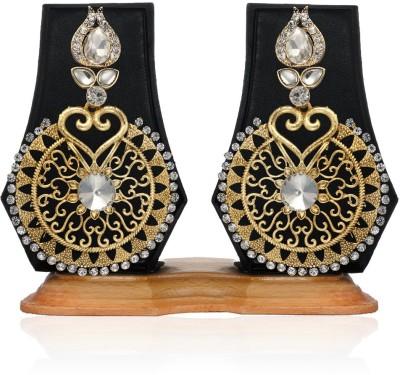 Arum Designer Antique Earring Stone Alloy Chandelier Earring