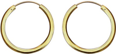 SuvidhaArts Love By Heart Brass Hoop Earring