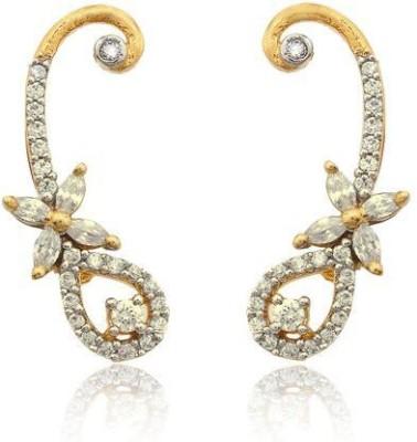 Luxor Pretty Cz Brass Cuff Earring
