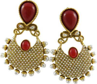 Shreyadzines Golden sparkle Alloy Chandbali Earring