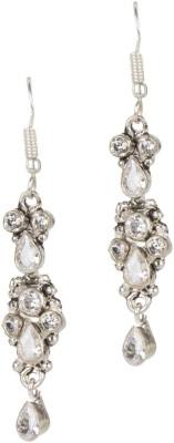 Mehtaphor Geena Crystal Brass Dangle Earring