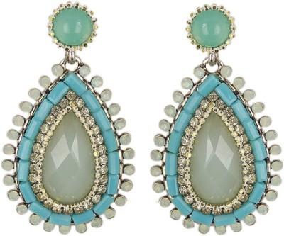 000 Fashions Blue Beaded Tear Alloy Chandeliar Alloy Drop Earring