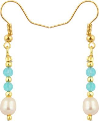 Pearlz Ocean Blissful Pearl, Jade Alloy Dangle Earring