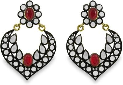 SuvidhaArts Royal Style Cubic Zirconia Metal Chandelier Earring