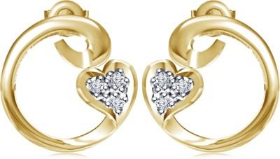 Kirati Swirl Heart Shape Cubic Zirconia Sterling Silver Stud Earring