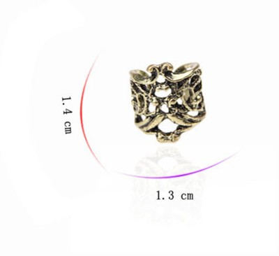 iSweven 1pcs Girls Fashion Punk Hollow Engraving Ear Cuff Clip 1.4cm*1.3cm Alloy Stud Earring