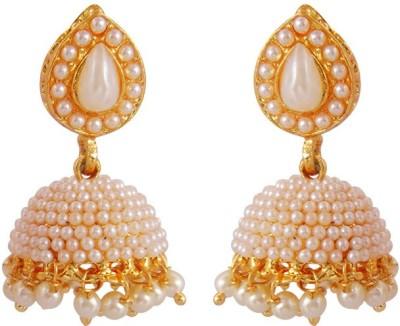 MK Jewellers Designer Jadau Pearl Polki Work Copper Earrings Copper Jhumki Earring