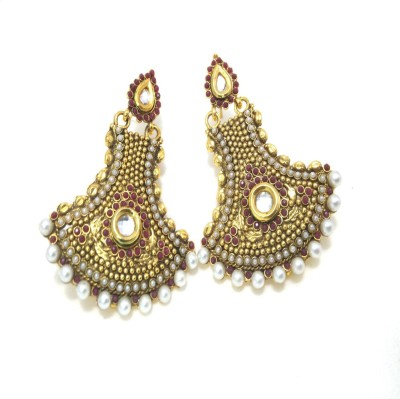 Fashion Pitaraa Pearl Delight Copper Chandbali Earring