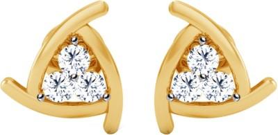 JacknJewel Enchanting Yellow Gold 18kt Diamond Stud Earring