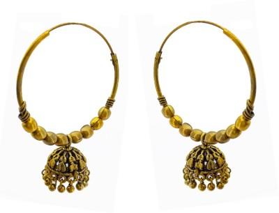 Gurjari GOLBALI Brass Jhumki Earring