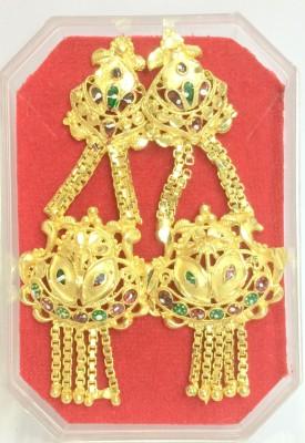 JMD Ethnic Colossus Beads Metal Jhumki Earring