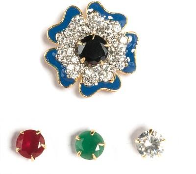 Saraa Interchangle Flower Cubic Zirconia Metal Stud Earring