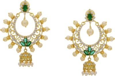 Prisha ADEAR747 Zircon Copper Chandbali Earring