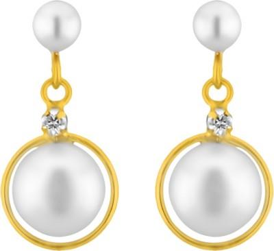 JPearls Exclusive Pearl Alloy Drop Earring