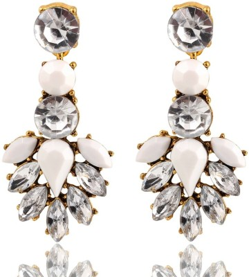 Bling N Beads Designer Alloy, Silver Drop Earring