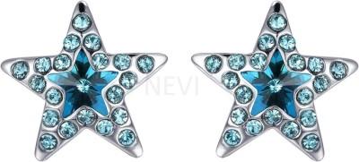 Nevi Star Swarovski Crystal Alloy, Crystal, Brass Stud Earring