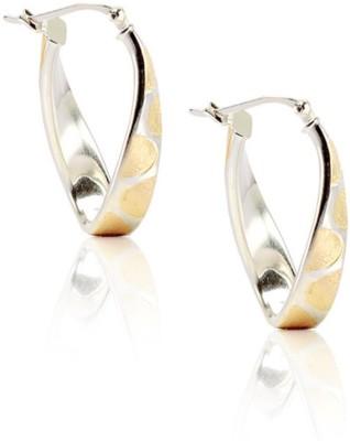 LeCalla Leopard Print Trendy Sterling Silver Hoop Earring
