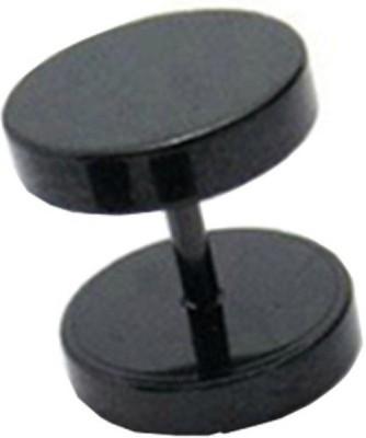 Sai Shop Elegant Black Dumbbell Shape Alloy Plug Earring