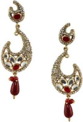 Radhesh Creation Stylish Crystal Brass Drop Earring