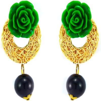 imillery imillery green rose Alloy Drop Earring