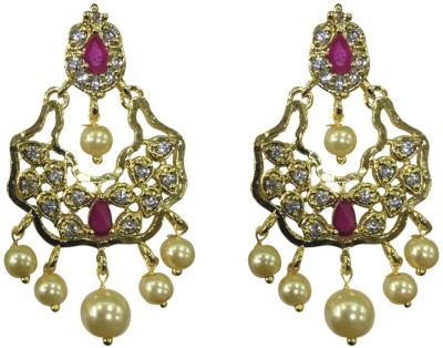 Sri Kapi Pearls FE130 Cubic Zirconia Alloy Chandbali Earring