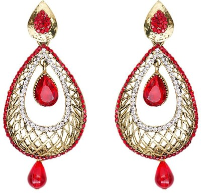Jewels Guru Diva Style Zircon Alloy Dangle Earring