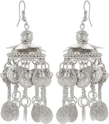 Prita Classic Silver Tone Alloy Dangle Earring