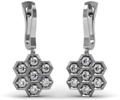 Adara Jewels Stylista Swarovski Crystal Sterling Silver Clip-on Earring