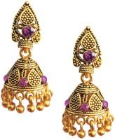 Being Women Pink-Stone Traditional Ethinic Alloy Jhumki Earring