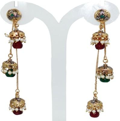 Anjan Lovely Traditional Golden Alloy Jhumki Earring