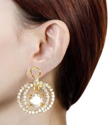 Prisha PPIPLCZER74 Zircon Copper Chandbali Earring