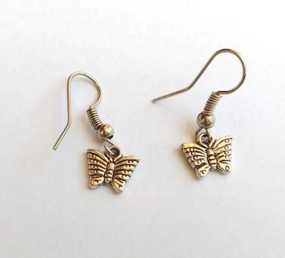 SrinidhiHandiCreations Butterfly Metal Dangle Earring