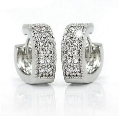 Ruvee Love Doves Wedding Alloy Huggie Earring