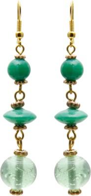 Galz4ever Green & Gold Alloy Drop Earring