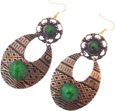 Store Utsav Mystic Green Alloy Dangle Earring