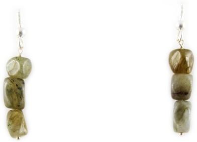 Ear Lobe & Accessories Oval piece White Metal Dangle Earring