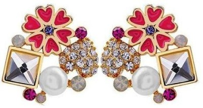 Roma Brothers Flowhrtsqr1 Alloy Stud Earring