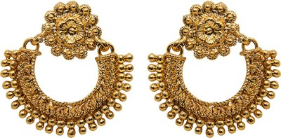Grand Jewels Gold Plated Yellow Gold Chandelier Earring