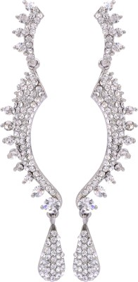 Maisha Silver Pearl Alloy Drop Earring