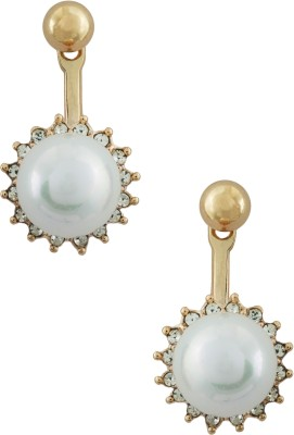 20Dresses A Pearl Flower Pearl, Zircon Metal Drop Earring