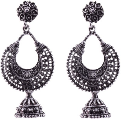 Ganapathy Gems Oxodised silver plated Alloy Chandbali Earring