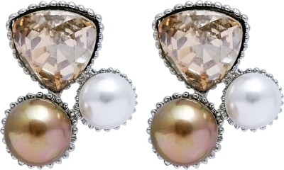 Super Drool Crystals and Pearl Alloy Stud Earring