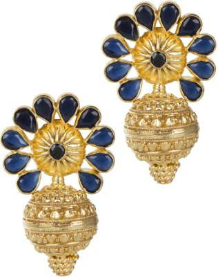 Mehtaphor Tulika Crystal Brass Stud Earring