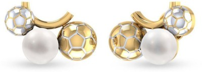 VelvetCase Football Fever Earrings Silver Stud Earring