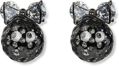 Aimez Jeweled Bow Metal Drop Earring