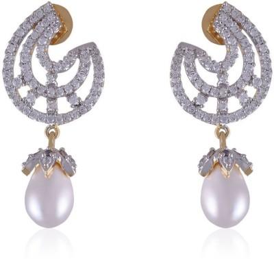 Vastradi Pearls Drop Alloy Drop Earring