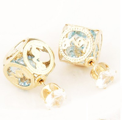 Cilver Fashion Trendy double faced Alloy Plug Earring