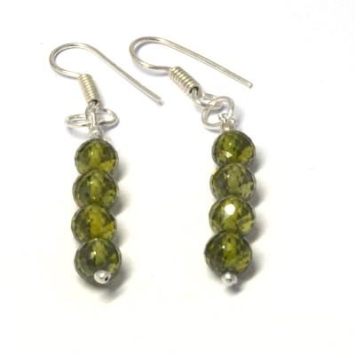 Chouhangems Everyday Wear Fashion Beads Glass Dangle Earring
