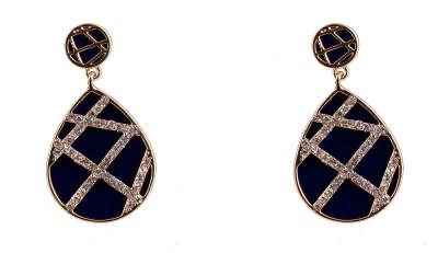 R18Jewels-Fashion&U Sparkling Royal_Blue_GOLD Metal Drop Earring