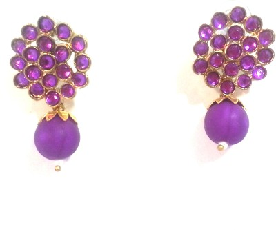Kshitij Jewels Floral Delight Alloy Drop Earring